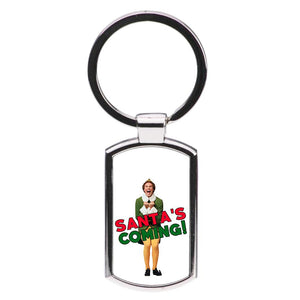 Buddy The Eld - Santa's Coming! Luxury Keyring