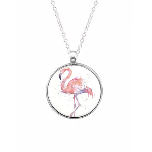Watercolour Flamingo Painting Keyring - Fun Cases