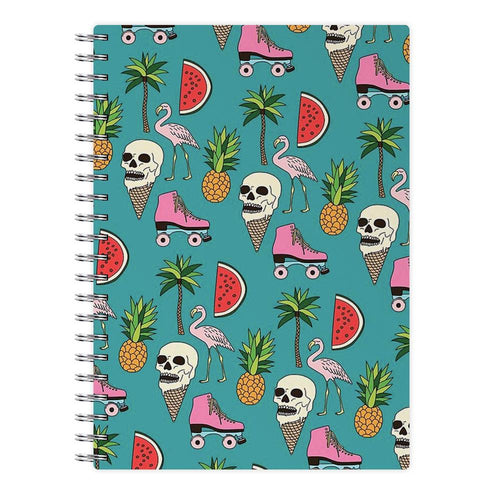 Skull Creams - Summer Pattern Notebook - Fun Cases