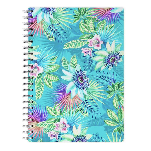Blue Floral Pattern Notebook - Fun Cases