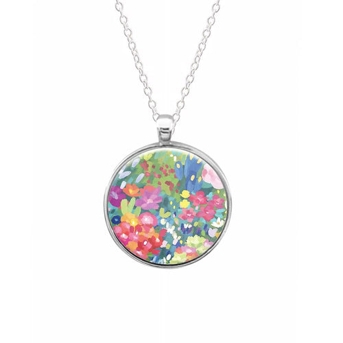 Colourful Floral Pattern Keyring - Fun Cases