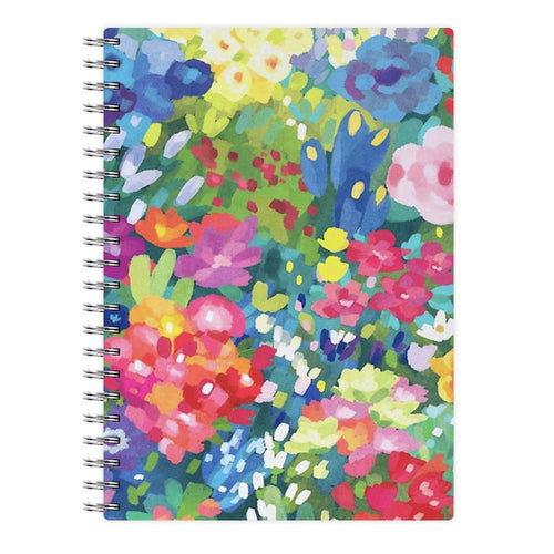 Colourful Floral Pattern Notebook - Fun Cases