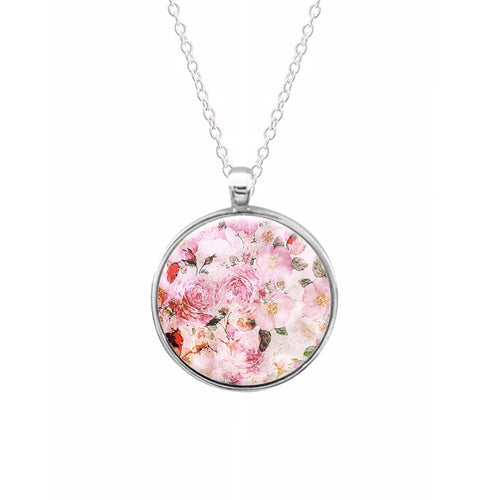 Pretty Pink Chic Floral Pattern Keyring - Fun Cases