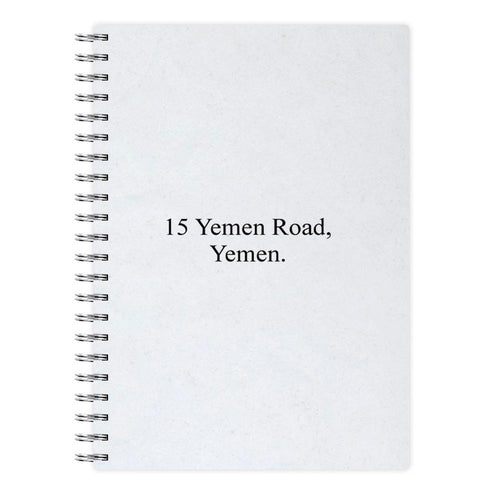 15 Yemen Road, Yemen - Friends Notebook - Fun Cases