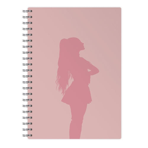Ariana Grande Pink Silhouette Notebook - Fun Cases