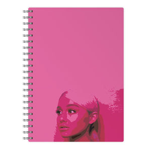 Dark Pink Arirana Grande Cartoon Notebook