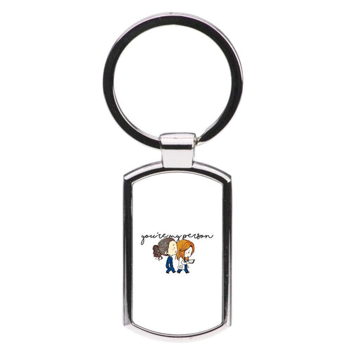 You're My Person Cartoon - Grey's Anatomy Luxury Keyring