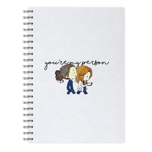 You're My Person Cartoon - Grey's Anatomy Notebook