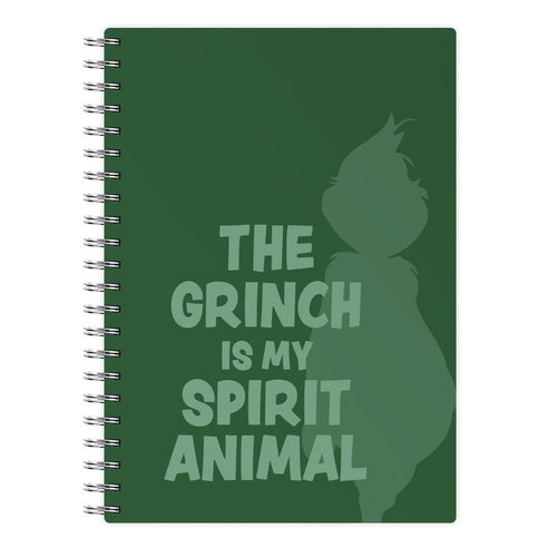 The Grinch Is My Spirit Animal Notebook