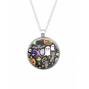 Colourful Halloween Pattern Keyring - Fun Cases