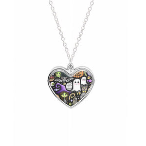 Colourful Halloween Pattern Necklace