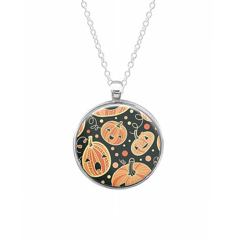 Pumpkin Pattern Keyring - Fun Cases