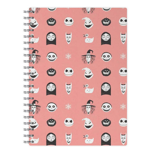 Nightmare Before Christmas Pattern Notebook - Fun Cases
