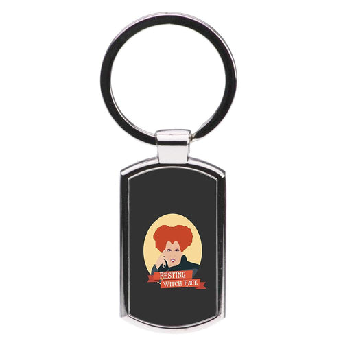 Resting Witch Face - Hocus Pocus Luxury Keyring