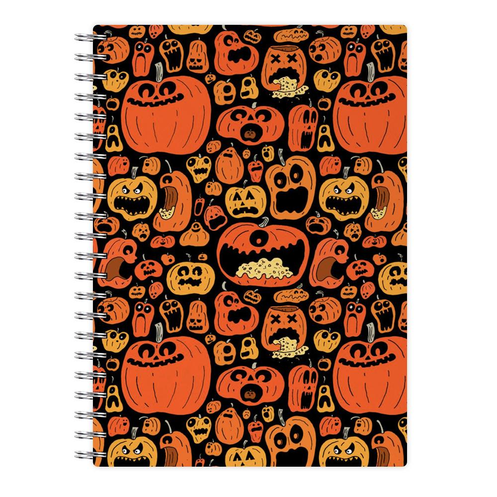 Scary Pumpkin Halloween Pattern Notebook