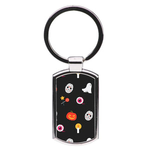 Halloween Mask Pattern Luxury Keyring