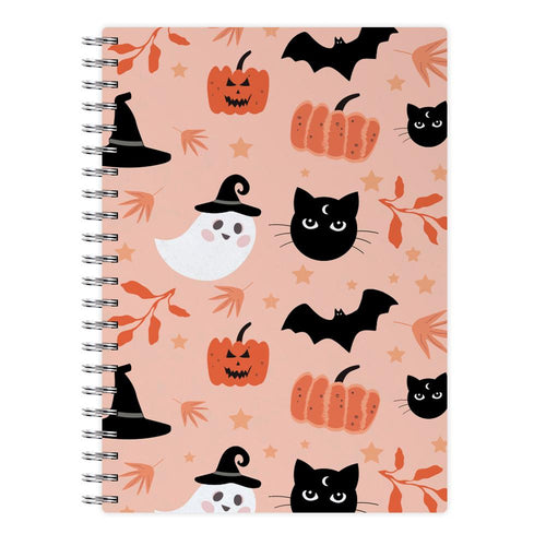 Pretty Pink Halloween Pattern Notebook