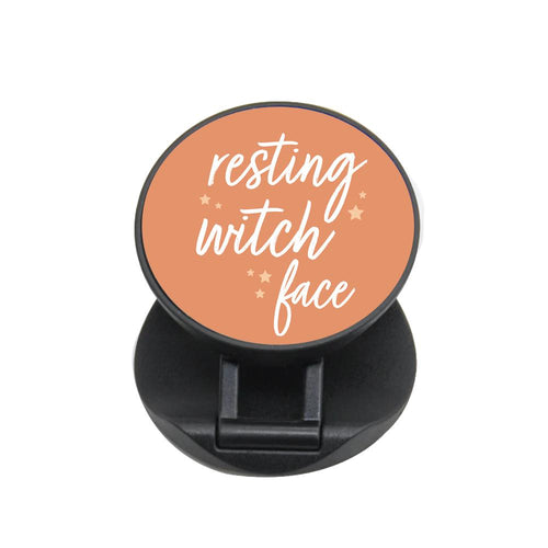 Resting Witch Face - Orange Halloween FunGrip