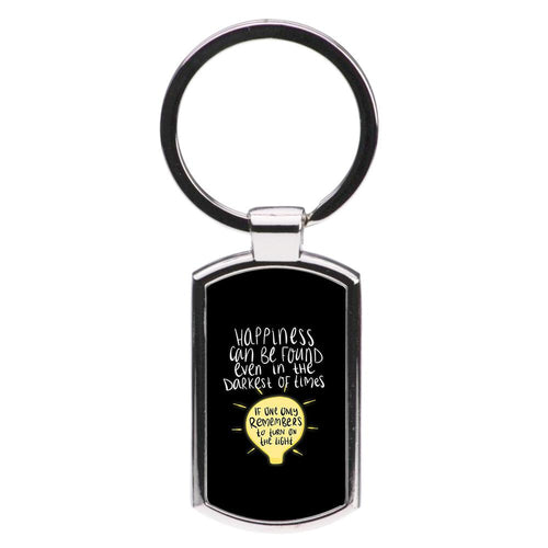 Happiness Can Be Found In The Darkest of Times - Harry Potter Luxury Keyring