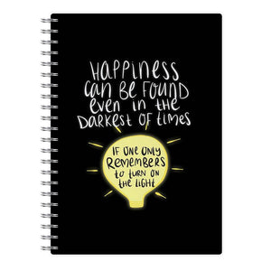 Happiness Can Be Found In The Darkest of Times - Harry Potter Notebook - Fun Cases