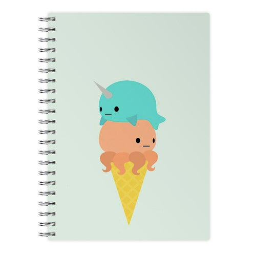 Narwhal Octopus Ice Cream Notebook - Fun Cases