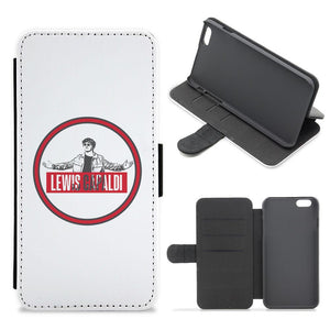 Red Lewis Capaldi Circle Flip / Wallet Phone Case