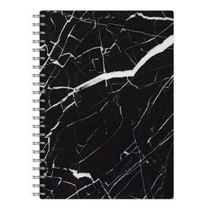 Black & White Marble Pattern Notebook - Fun Cases