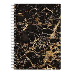 Black & Gold Marble Pattern Notebook - Fun Cases