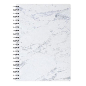 White Marble Pattern Notebook - Fun Cases