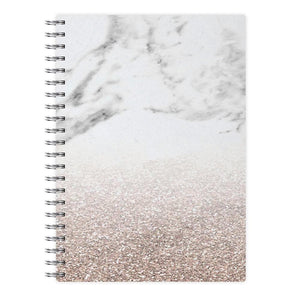 Rose Gold Glitter & Marble Notebook - Fun Cases