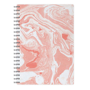 Pink Swirly Marble Notebook - Fun Cases