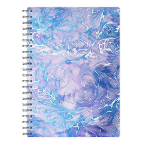 Sea Blue Swirly Marble Notebook - Fun Cases