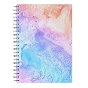 Blue and Peach Marble Notebook - Fun Cases
