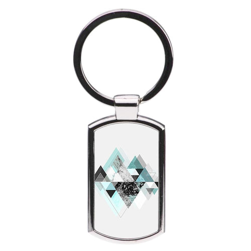 Triange Marble Pattern Luxury Keyring