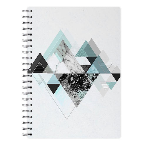 Triange Marble Pattern Notebook - Fun Cases
