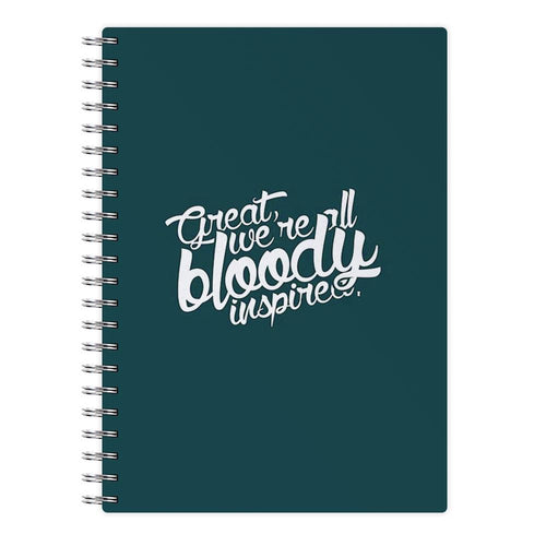 Great, We're All Bloody Inspired - Maze Runner Notebook - Fun Cases