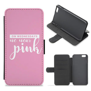On Wednesdays We Wear Pink - Pink Mean Girls Flip / Wallet Phone Case