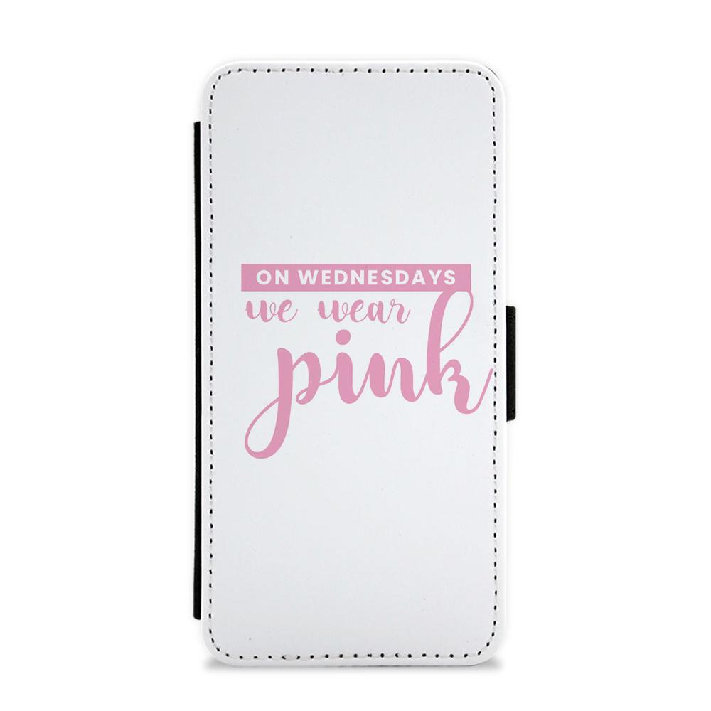 On Wednesdays We Wear Pink - White Mean Girls Flip / Wallet Phone Case