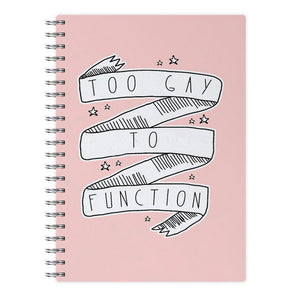 Too Gay To Function - Mean Girls Notebook