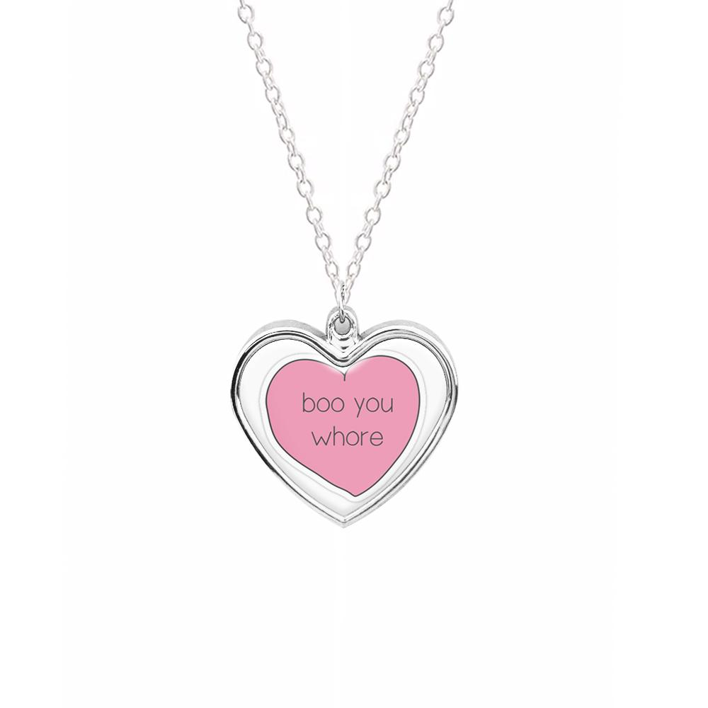 Boo You Whore - Heart - Mean Girls Necklace