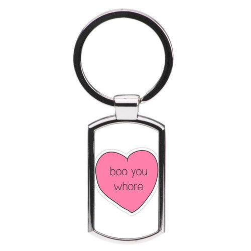 Boo You Whore - Heart - Mean Girls Luxury Keyring