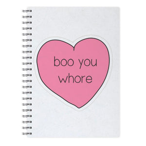 Boo You Whore - Heart - Mean Girls Notebook