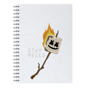 Stay Mello Marshmellow - Marshmello Notebook