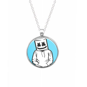 Blue Marshmello Keyring - Fun Cases