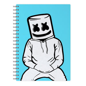Blue Marshmello Notebook