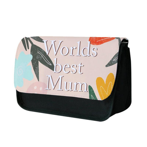 Worlds Best Mum - Floral Mother's Day Pencil Case