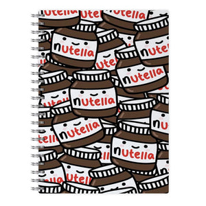 Cute Nutella Pattern Notebook - Fun Cases