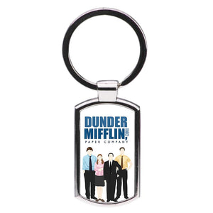 The Office Cartoon - Dunder Mifflin Luxury Keyring