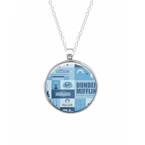 The Office Blue Patchwork Keyring - Fun Cases