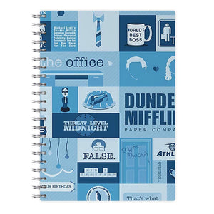The Office Blue Patchwork Notebook - Fun Cases
